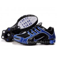 Men's Nike Shox R5 Shoes Black/Blue Super Deals