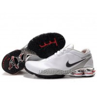 Men's Nike Shox R5 Shoes White/Grey/Black Top Deals