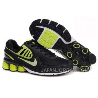 Men's Nike Shox R6 Shoes Black/Green/White Online