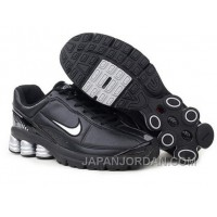 Men's Nike Shox R6 Shoes Black/Grey Discount