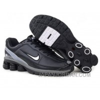 Men's Nike Shox R6 Shoes Black/Grey/White Lastest