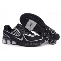 Men's Nike Shox R6 Shoes Black/Silver Discount