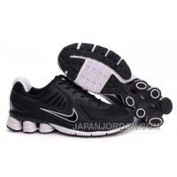 Men's Nike Shox R6 Shoes Black/White Super Deals