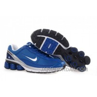 Men's Nike Shox R6 Shoes Blue/Grey/White Discount