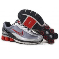 Men's Nike Shox R6 Shoes Grey/White/Black/Red Cheap To Buy