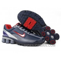 Men's Nike Shox R6 Shoes Navy/Grey/White/Red Top Deals
