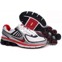 Men's Nike Shox R6 Shoes Silver/White/Black/Red Lastest