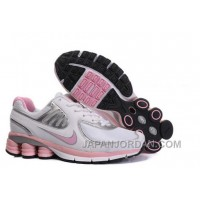 Women's Nike Shox R6 Shoes White/Light Pink/Silver Cheap To Buy