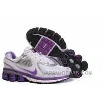 Women's Nike Shox R6 Shoes White/Light Purple/Silver Discount