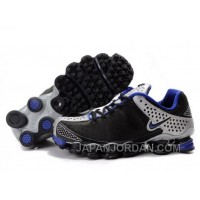 Men's Nike Shox TL Shoes Black/Blue/Silver Free Shipping