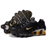 Men's Nike Shox TL Shoes Black/Gold/Silver For Sale