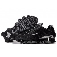 Men's Nike Shox TL Shoes Black/Silver Top Deals