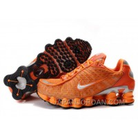 Men's Nike Shox TL Shoes Orange/Silver Lastest