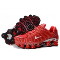 Women's Nike Shox TL Shoes Gym Red/Silver Lastest