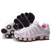 Women's Nike Shox TL Shoes White/Light Pink/Silver Top Deals