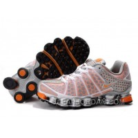 Women's Nike Shox TL Shoes White/Orange/Silver New Release