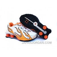 Kid's Nike Shox Torch Shoes White/Orange/Grey Authentic