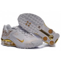 Men's Nike Shox Torch Shoes White/Gold/Brilliant Gold Top Deals