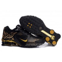 Women's Nike Shox Torch Shoes Black/Gold/Brilliant Gold Authentic