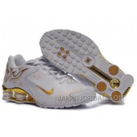 Women's Nike Shox Rch Shoes White/Gold/Brilliant Gold Cheap To Buy
