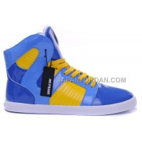 送料無料 Supra Pilot NS High Mens Blue Yellow White