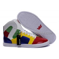 送料無料 Supra Pilot NS High Mens Red Yellow Green