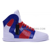 送料無料 Supra Pilot NS High Mens White Blue Red