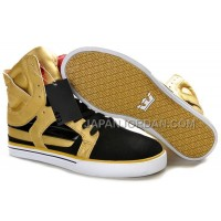 送料無料 Supra Skytop II Mens Gold Black White