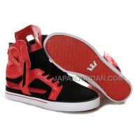 送料無料 Supra Skytop II Mens Red Black White