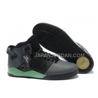 本物の Supra Skytop III Mens Black Gray Green