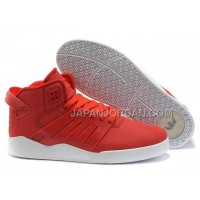 本物の Supra Skytop III Mens Light Red White