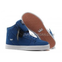 格安特別 Supra Vaider High Mens Skate Peacock Blue White