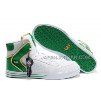 格安特別 Supra Vaider High Womens White Green Gold