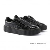 Mens PUMA BY RIHANNA CREEPER CRACKED LEATHER Puma Black-Puma Black-Puma Black Best