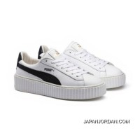 Mens PUMA BY RIHANNA CREEPER WHITE LEATHER Puma White-Puma Black-Puma White Top Deals