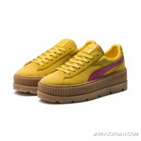 FENTY SUEDE CLEATED CREEPER WOMENS PUMA Lemon-Carmine Rose-Vanilla Ice Copuon Code
