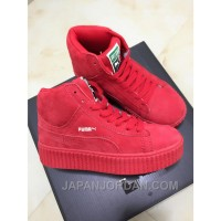 Puma X Rihanna WMNS Creeper Wheat Gum Red Women