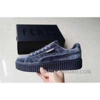 Puma By Rihanna Suede Creepers Grey New Release Free Shipping