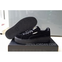 Puma By Rihanna Suede Creepers Black New Release Top Deals