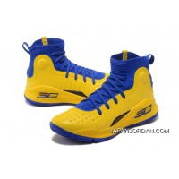 Under Armour Curry 4 Basketball Shoes Yellow Blue New Release
