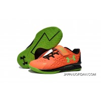 Under Armour Kids Orange Green Shoes Free Shipping
