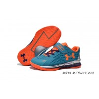Under Armour Kids Blue Orange Shoes Online