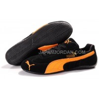 オンライン Womens Puma Fur 889 Black Orange