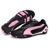 Womens Puma Tour Cat Lo L Black Pink Green 割引販売