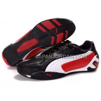 Womens Puma Tour Cat Lo L Black White Red 割引販売