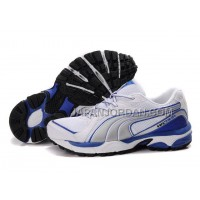 Womens Puma Vectana Running White Gray Blue 割引販売