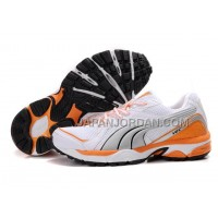 Womens Puma Vectana Running White Gray Orange 割引販売