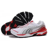 Womens Puma Vectana Running White Gray Red 割引販売