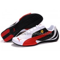 Womens Puma Wheelspin White Black Red 割引販売
