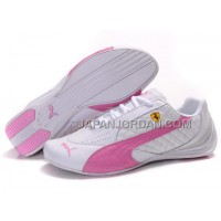 Womens Puma Wheelspin White Pink Gray 割引販売